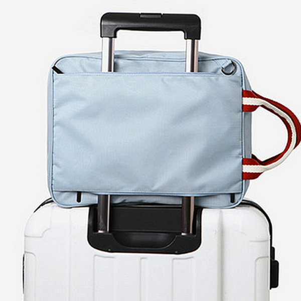 Big storage bag for travel suitcase shoulder bag light blue handbag