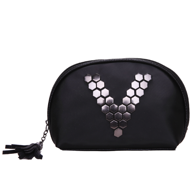 Black small size cosmetic pouch waterproof poly/PU good quality fashion handbag