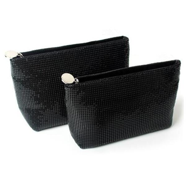 Korean style black storage cosmetic bag female multi-function travel small portable large capacit pouch