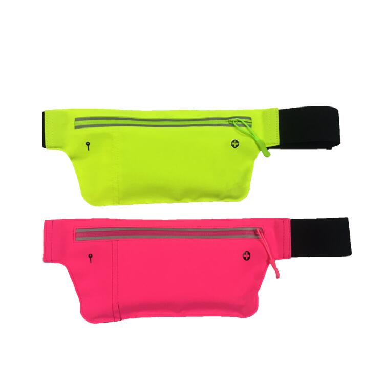 2018 new style Lycra waterproof fabric riding skin-friendly light running bag pockets sports factory custom waist bag