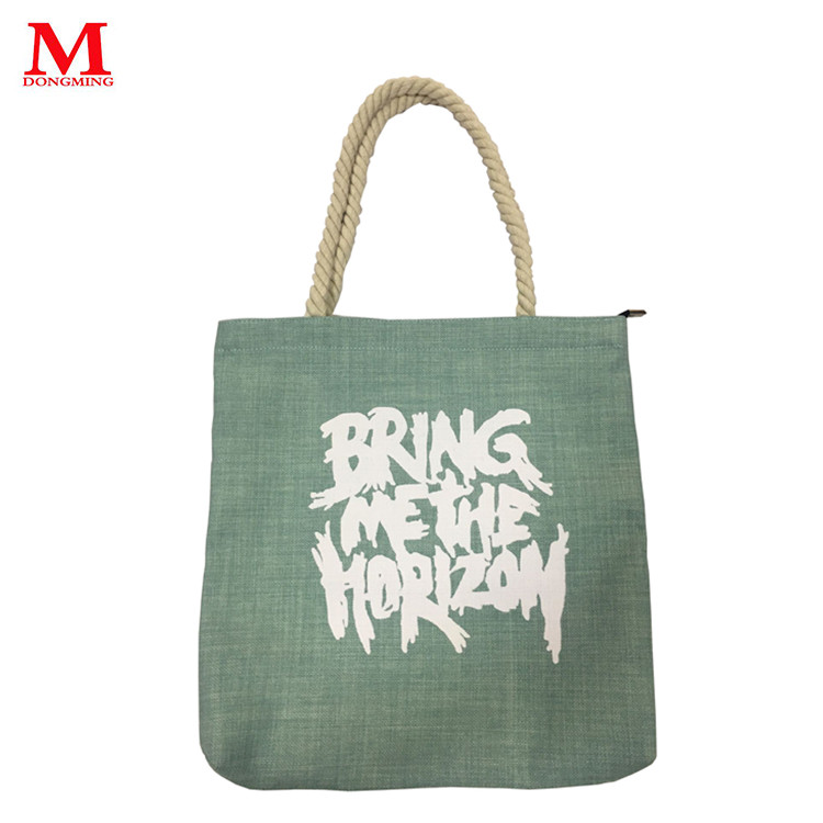 INS hot new style letter logo printing canvas handbag green color fashionale tote-bag