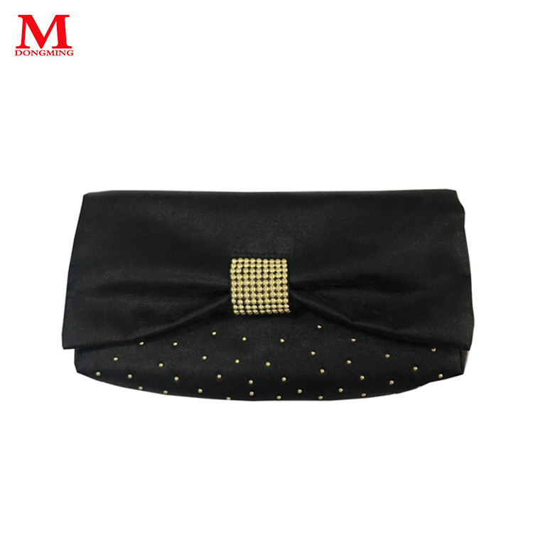 Factory volume personalized custom makeup bag decoration fashion black bag